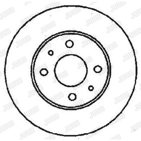 Bremsscheibe JURID Art.No - 561380JC OEM: 435120F010 für TOYOTA, LEXUS, WIESMANN kaufen