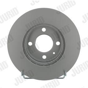 Bremsscheibe JURID Art.No - 561448JC OEM: 6N0615301D für VW, MERCEDES-BENZ, AUDI, SKODA, SEAT kaufen