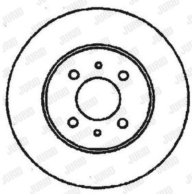 спирачен диск JURID Art.No - 561469JC OEM: 51859075 за FIAT, ALFA ROMEO, LANCIA, CHRYSLER купете