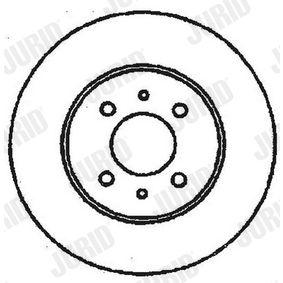 JURID спирачен диск 51859075 за FIAT, ALFA ROMEO, LANCIA, CHRYSLER купете