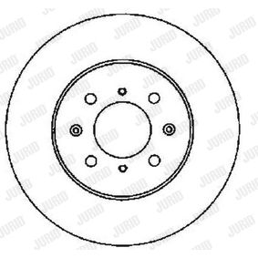 Спирачен диск JURID Art.No - 561630JC OEM: 45251SK7A00 за HONDA, LAND ROVER, ROVER, MG, ACURA купете