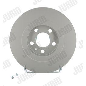 Bremsscheibe JURID Art.No - 562039JC OEM: 1J0615301P für VW, AUDI, SKODA, SEAT, PORSCHE kaufen
