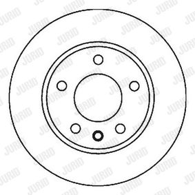 Bremsscheibe JURID Art.No - 562040JC OEM: 8Z0615301D für VW, AUDI, SKODA, SEAT, SMART kaufen