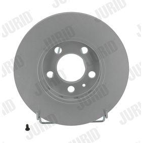 Bremsscheibe JURID Art.No - 562040JC OEM: 8Z0615301B für VW, AUDI, SKODA, SEAT, SMART kaufen