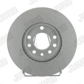 Bremsscheibe JURID Art.No - 562070JC OEM: 9117678 für OPEL, CHEVROLET, SUBARU, CADILLAC, ISUZU kaufen