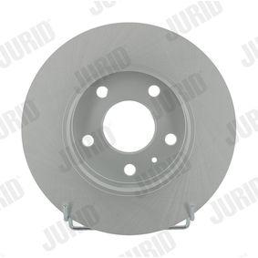 Bremsscheibe JURID Art.No - 562072JC OEM: 90575113 für OPEL, CHEVROLET, VAUXHALL kaufen
