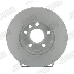Bremsscheibe JURID Art.No - 562080JC OEM: 7D0615301A für VW, AUDI, SKODA, SEAT, PORSCHE kaufen