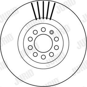 JURID Bremsscheibe 8N0615301A für VW, AUDI, SKODA, SEAT bestellen
