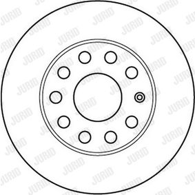 Bremsscheibe JURID Art.No - 562238JC OEM: 1K0615601L für VW, AUDI, SKODA, SEAT, PORSCHE kaufen