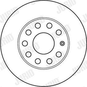 JURID Bremsscheibe 1K0615601L für VW, AUDI, SKODA, SEAT, PORSCHE bestellen