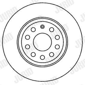 JURID Спирачен диск 1K0615601AD за VW, AUDI, MAZDA, SKODA, SEAT купете