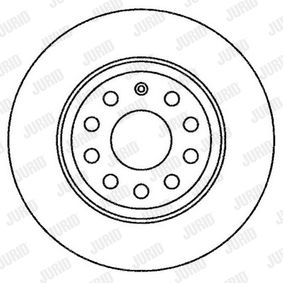 Bremsscheibe JURID Art.No - 562258JC OEM: 1K0615601M für VW, AUDI, SKODA, SEAT, PORSCHE kaufen