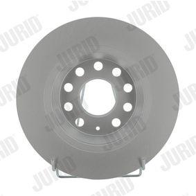 Bremsscheibe JURID Art.No - 562258JC OEM: 1K0615601AD für VW, AUDI, SKODA, MAZDA, SEAT kaufen