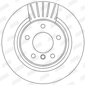 Bremsscheibe JURID Art.No - 562316JC OEM: 34216764651 für BMW, MINI kaufen