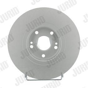 Bremsscheibe JURID Art.No - 562381JC OEM: 7701206614 für RENAULT, NISSAN, DACIA, RENAULT TRUCKS kaufen