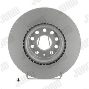 Bremsscheibe JURID Art.No - 562387JC OEM: 5N0615301 für VW, AUDI, SKODA, SEAT, ALFA ROMEO kaufen