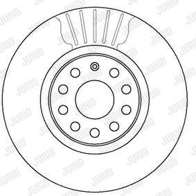 Disque de frein JURID Art.No - 562387JC OEM: 8V0698302B pour VOLKSWAGEN, AUDI, SEAT, SKODA récuperer