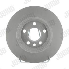 Bremsscheibe JURID Art.No - 562448JC OEM: 7D0615601A für VW, AUDI, SKODA, SEAT, PORSCHE kaufen