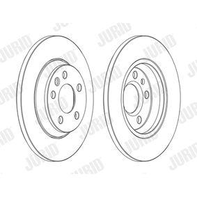 JURID Bremsscheibe 7D0615601A für VW, AUDI, SKODA, SEAT, PORSCHE bestellen