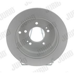 Bremsscheibe JURID Art.No - 562454JC OEM: 584113A300 für HYUNDAI, KIA kaufen