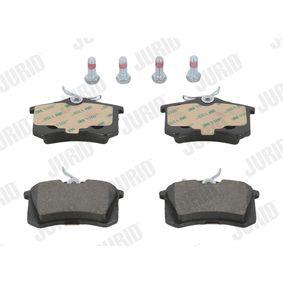 Bremsbelagsatz, Scheibenbremse JURID Art.No - 571361J OEM: 1H0698451H für VW, AUDI, SKODA, PEUGEOT, SEAT kaufen