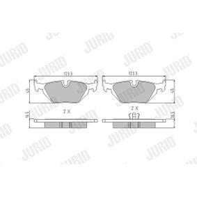 Bremsbelagsatz, Scheibenbremse JURID Art.No - 571527J OEM: 34211162446 für BMW, MINI, ROVER kaufen