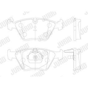 JURID Bremsbelagsatz, Scheibenbremse 34111164331 für BMW bestellen