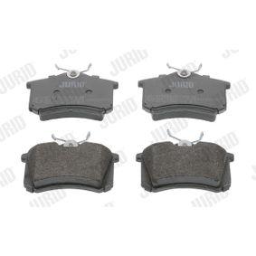 Bremsbelagsatz, Scheibenbremse JURID Art.No - 571906D OEM: 5K0698451B für VW, AUDI, SKODA, SEAT, SMART kaufen