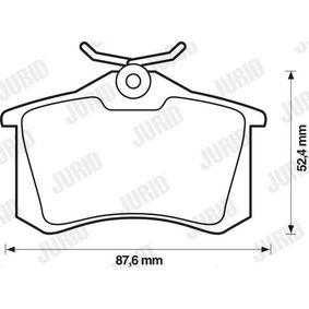 JURID Bremsbelagsatz, Scheibenbremse 5K0698451B für VW, AUDI, SKODA, SEAT, SMART bestellen