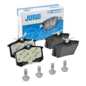 Bremsbelagsatz, Scheibenbremse JURID Art.No - 571906J OEM: 5C0698451 für VW, AUDI, SKODA, SEAT, BENTLEY kaufen