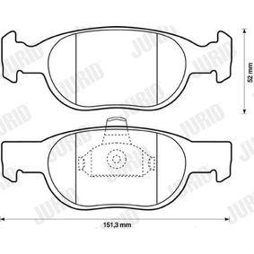 Headlight parts 571949J JURID