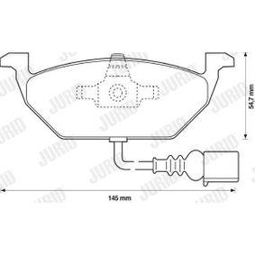JURID Bremsbelagsatz, Scheibenbremse 1K0698151J für VW, AUDI, SKODA, SEAT bestellen
