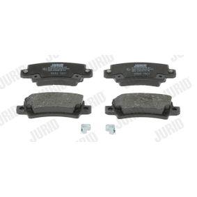 Bremsbelagsatz, Scheibenbremse JURID Art.No - 572492J OEM: 0446602040 für TOYOTA, LEXUS, WIESMANN kaufen