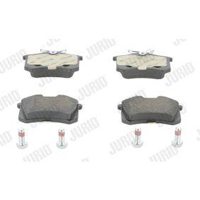 Bremsbelagsatz, Scheibenbremse JURID Art.No - 573032J OEM: 1608520380 für VW, AUDI, FORD, RENAULT, PEUGEOT kaufen