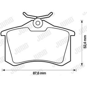 JURID Bremsbelagsatz, Scheibenbremse 1608520380 für VW, AUDI, FORD, RENAULT, PEUGEOT bestellen