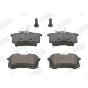 Bremsbelagsatz, Scheibenbremse JURID Art.No - 573032JC OEM: 1608520380 für VW, AUDI, FORD, RENAULT, PEUGEOT kaufen