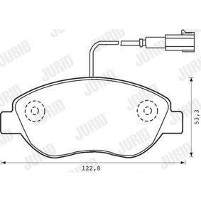 JURID Bremsbelagsatz, Scheibenbremse 71770118 für FIAT, ALFA ROMEO, LANCIA bestellen