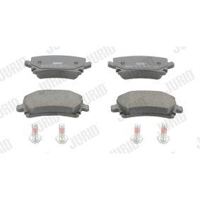 Bremsbelagsatz, Scheibenbremse JURID Art.No - 573158J OEM: 4F0698451E für VW, AUDI, SKODA, SEAT, HONDA kaufen