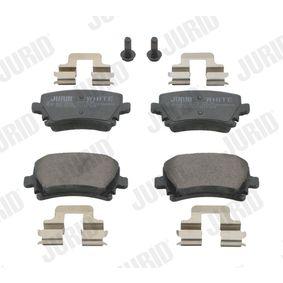 Bremsbelagsatz, Scheibenbremse JURID Art.No - 573158JC OEM: 4F0698451D für VW, AUDI, SKODA, SEAT, HONDA kaufen
