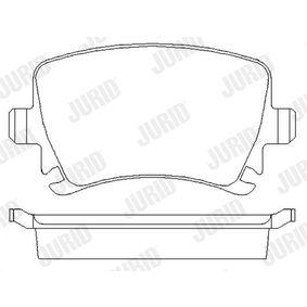 JURID Bremsbelagsatz, Scheibenbremse 4F0698451D für VW, AUDI, SKODA, SEAT, HONDA bestellen
