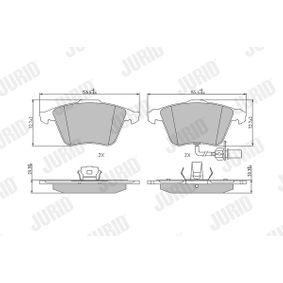 Bremsbelagsatz, Scheibenbremse JURID Art.No - 573196J OEM: 4F0698151B für VW, AUDI, SKODA, SEAT kaufen