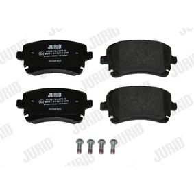JURID Bremsbelagsatz, Scheibenbremse 4B3698451A für VW, AUDI, SKODA, SEAT bestellen