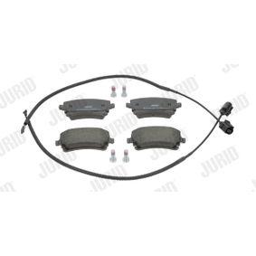 Bremsbelagsatz, Scheibenbremse JURID Art.No - 573225J OEM: 3D0698451 für VW, AUDI, SKODA, SEAT kaufen