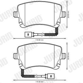 JURID Bremsbelagsatz, Scheibenbremse 3D0698451 für VW, AUDI, SKODA, SEAT bestellen