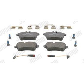 Bremsbelagsatz, Scheibenbremse JURID Art.No - 573226J OEM: 1694202120 für MERCEDES-BENZ kaufen