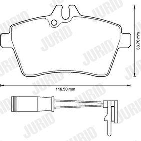 JURID Bremsbelagsatz, Scheibenbremse 1694202120 für MERCEDES-BENZ bestellen