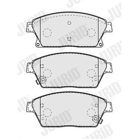 JURID Bremsbelagsatz, Scheibenbremse 95516193 für OPEL, CHEVROLET, DAEWOO, VAUXHALL bestellen