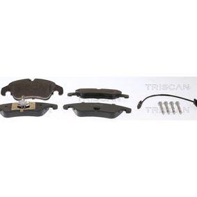 Bremsbelagsatz, Scheibenbremse TRISCAN Art.No - 8110 29080 OEM: 8K0698151H für VW, AUDI, SKODA, SEAT, PORSCHE kaufen