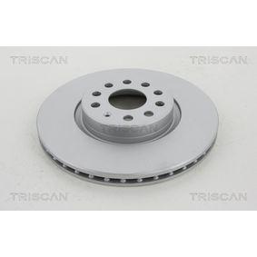 Bremsscheibe TRISCAN Art.No - 8120 29193C OEM: 1K0615301AA für VW, AUDI, SKODA, MAZDA, SEAT kaufen