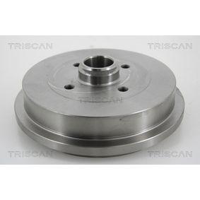 Bremstrommel TRISCAN Art.No - 8120 29218 OEM: 6U0501615 für VW, AUDI, SKODA, SEAT kaufen